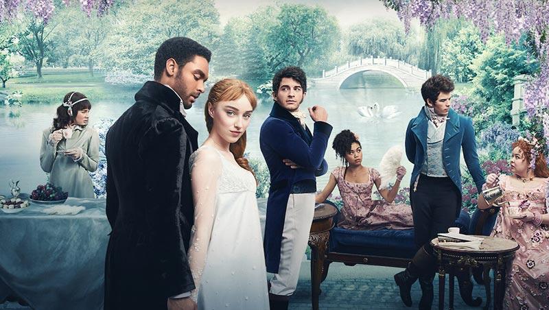 la familia y los personajes principales de los bridgerton